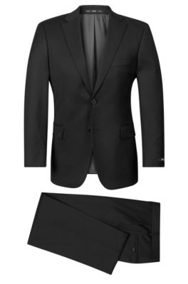 Virgin Wool Suit, Comfort Fit | Pasolini/Movie, Black