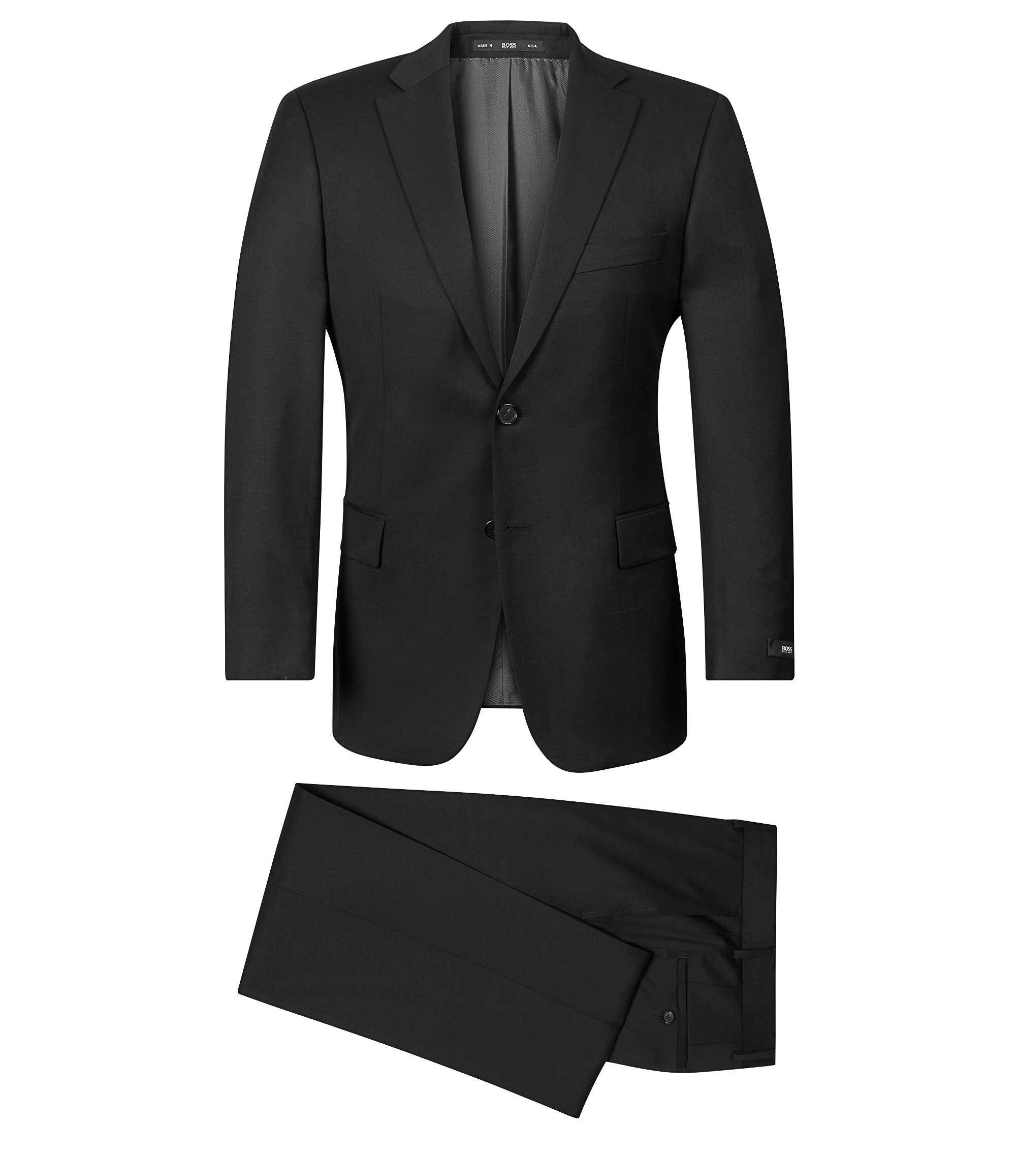 Super 100 Virgin Wool Suit, Comfort Fit | Pasolini/Movie, Black