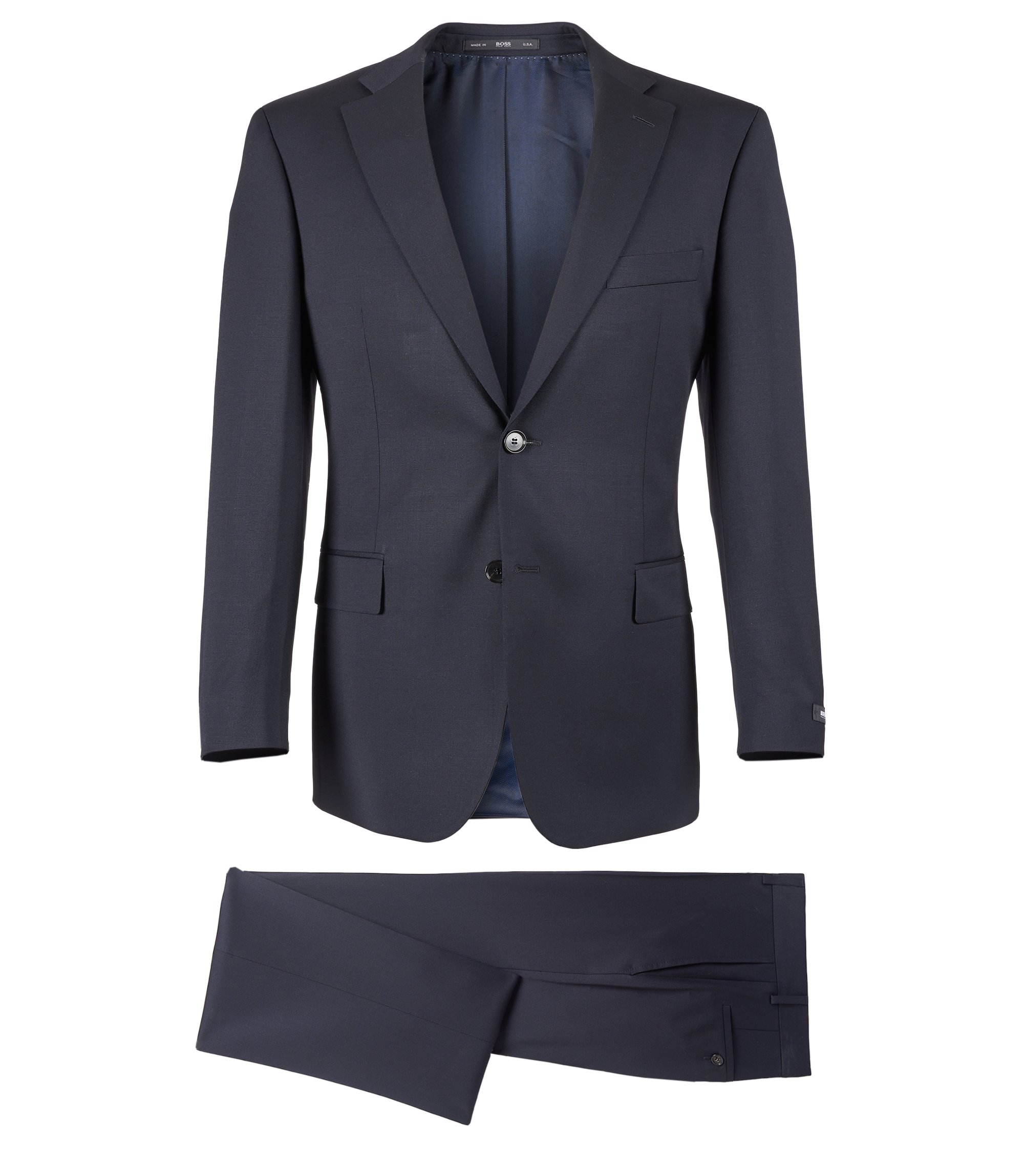 Virgin Wool Suit, Comfort Fit | Pasolini/Movie, Dark Blue