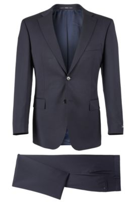 Super 100 Virgin Wool Suit, Comfort Fit | Pasolini/Movie, Dark Blue
