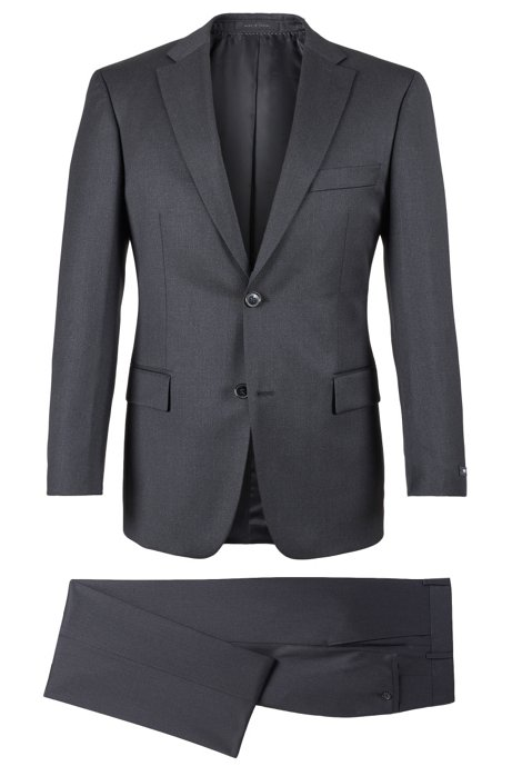 cac146116 BOSS - Super 110 Virgin Wool Suit, Comfort Fit | Pasolini/Movie