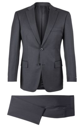 Super 110 Virgin Wool Suit, Comfort Fit | Pasolini/Movie, Dark Grey