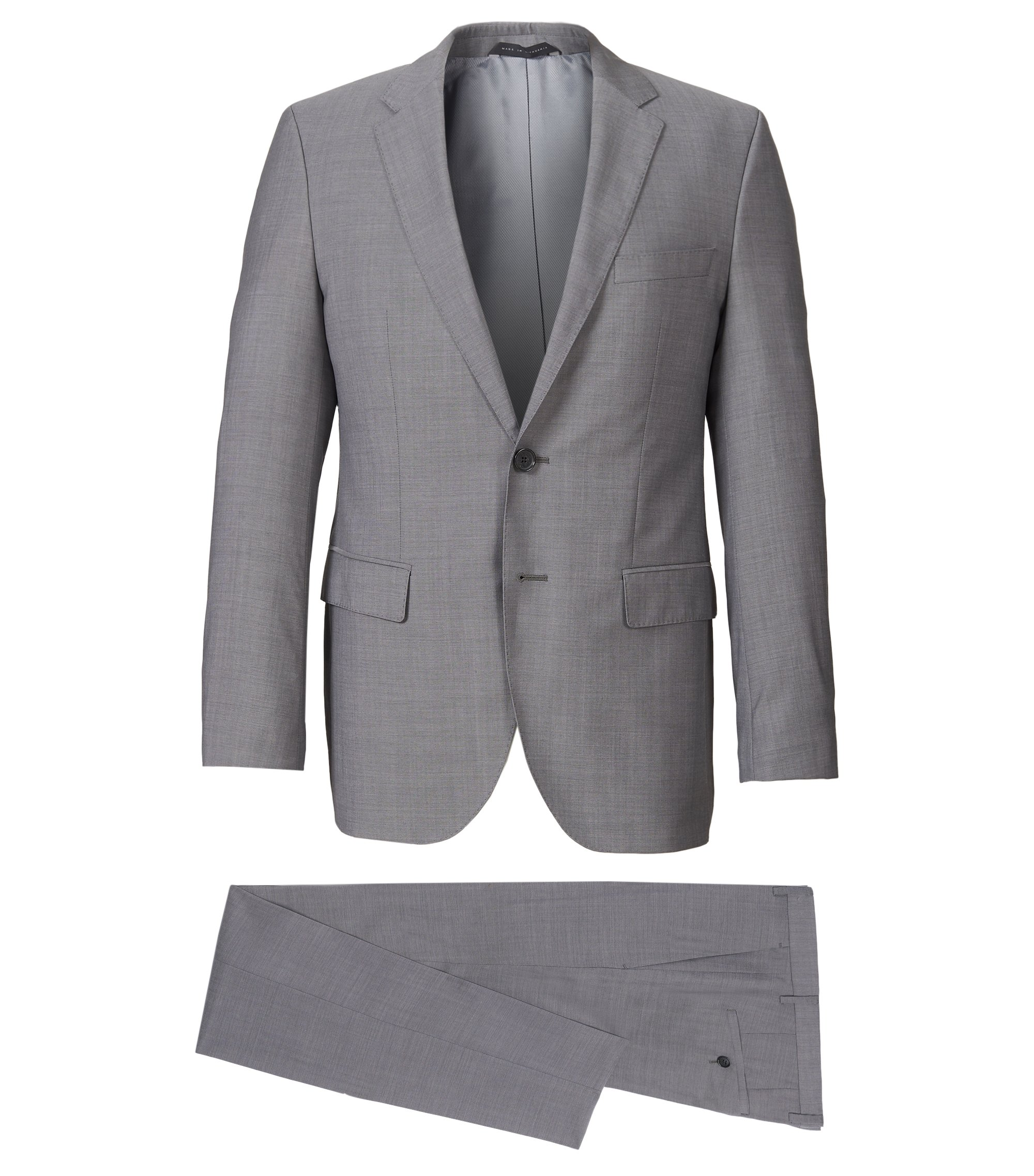 Italian Wool Suit, Regular Fit | The James/Sharp, Grey