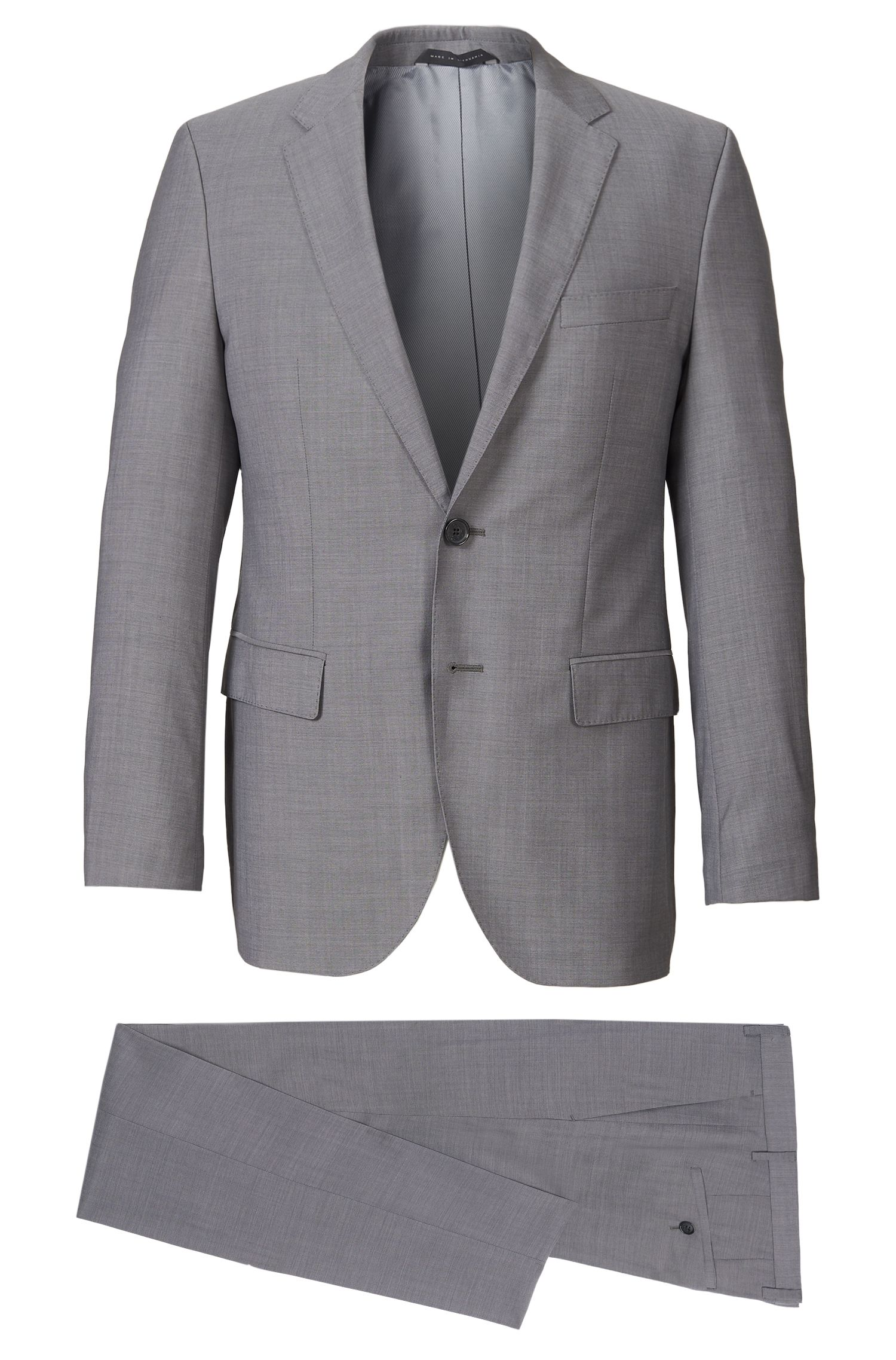 Super 120 Italian Virgin Wool Suit, Regular Fit | The James/Sharp