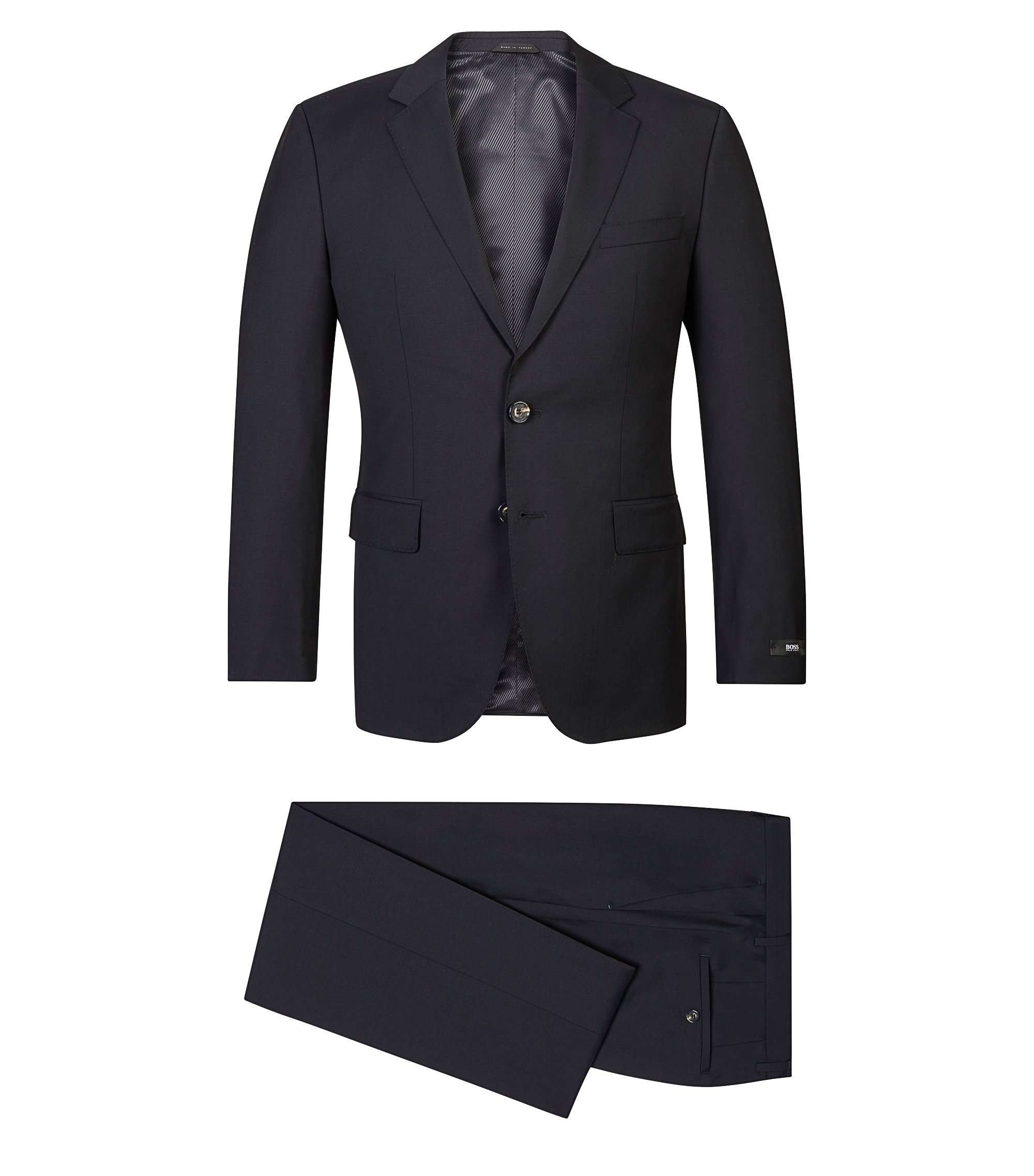 Italian Wool Suit, Regular Fit | The James/Sharp, Dark Blue