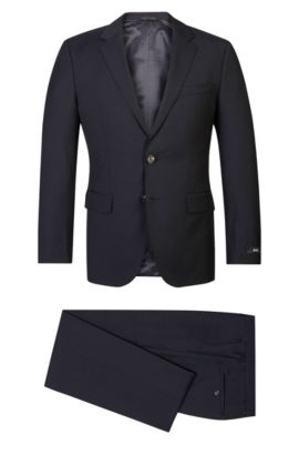 Super 120 Italian Virgin Wool Suit, Regular Fit | The James/Sharp, Dark Blue