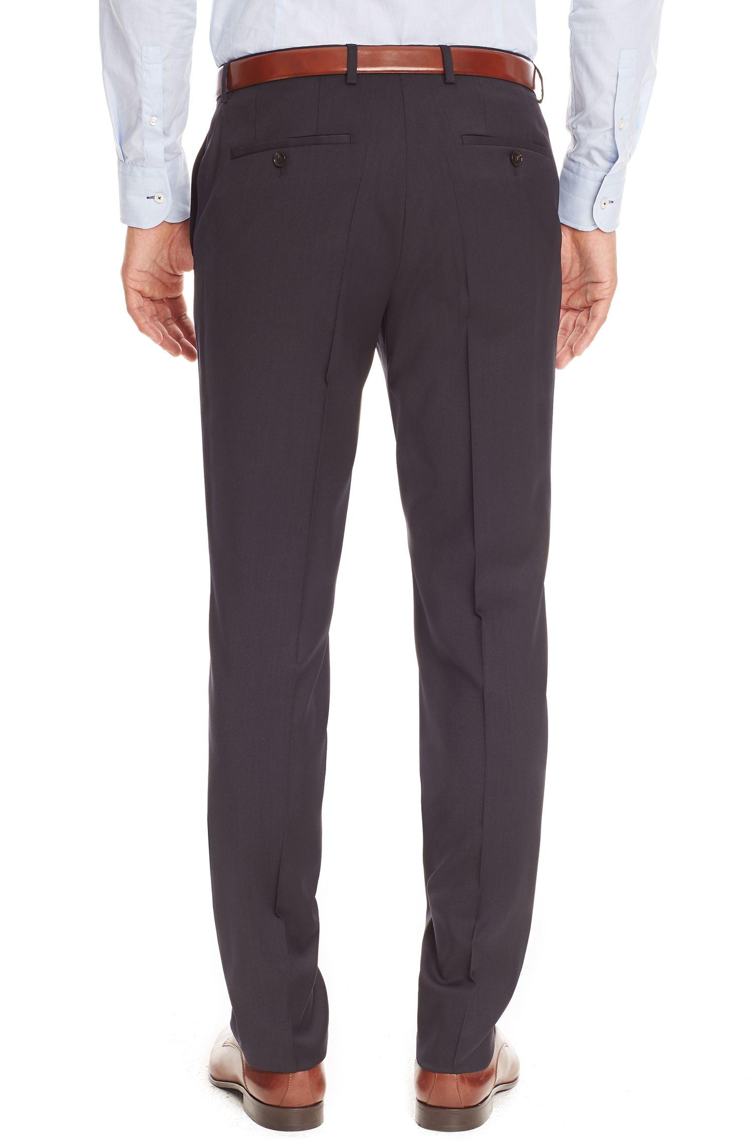 Virgin Wool Dress Pant, Regular Fit   Sharp