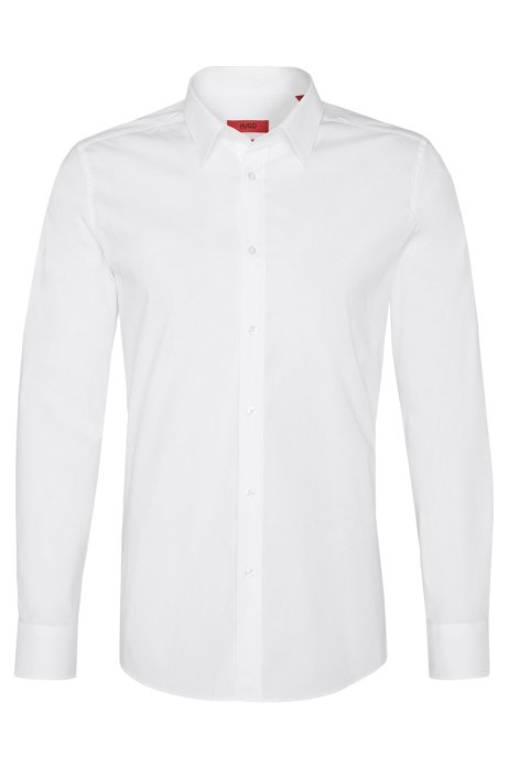 'Elisha' | Slim Fit, Point Collar Stretch Cotton Dress Shirt. '