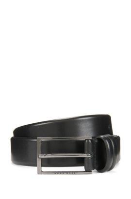'Carmello' | Shiny Leather Belt, Black