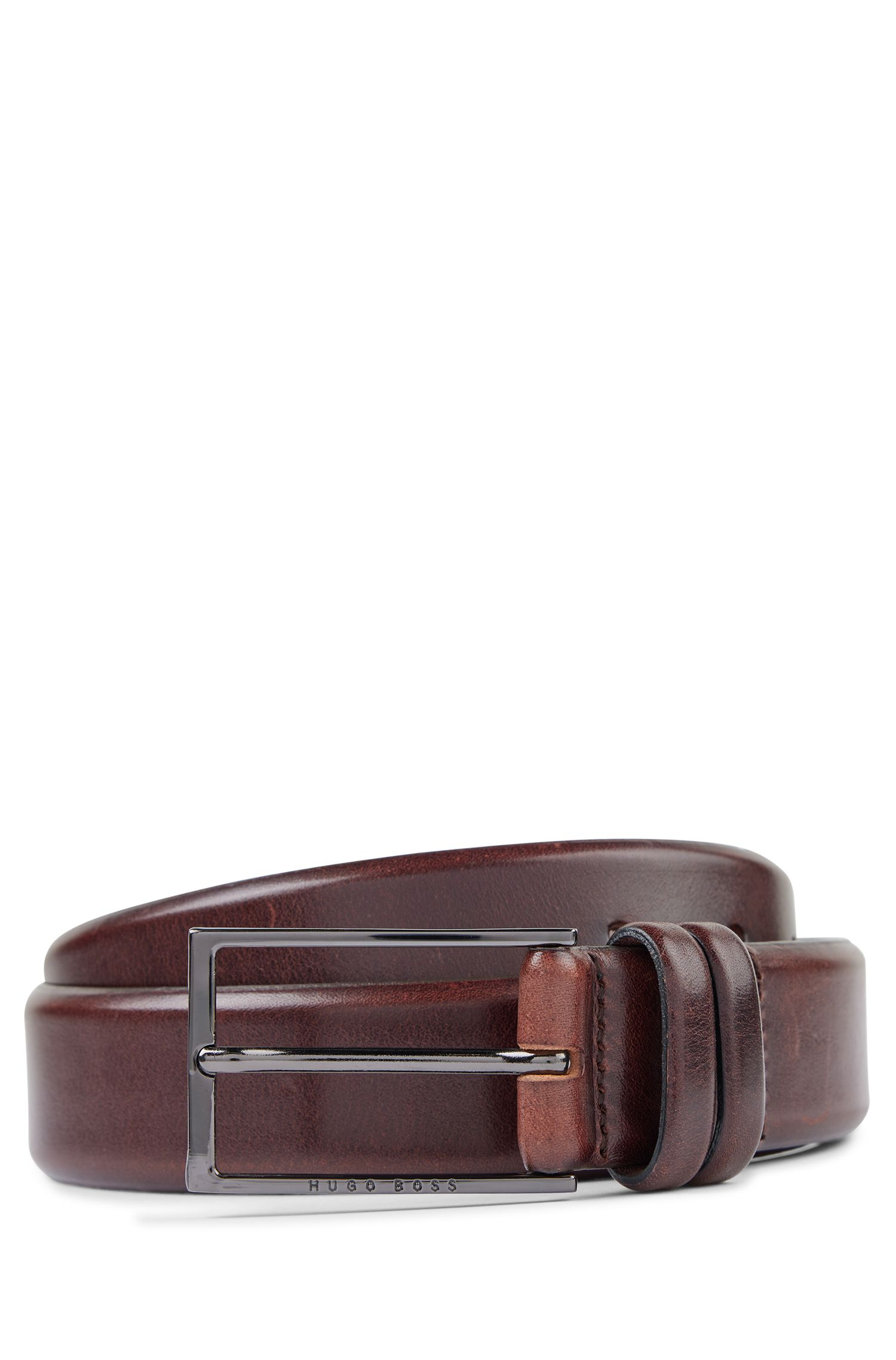 Leather Belt | Carmello, Dark Brown