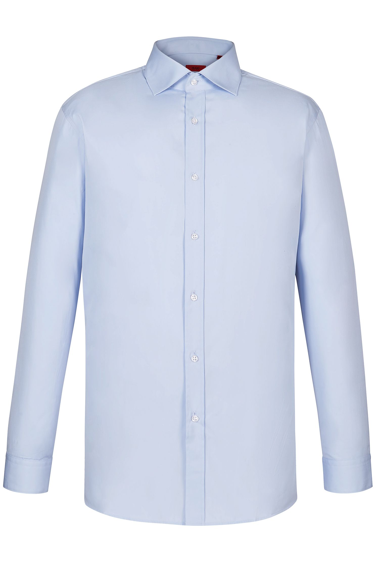 'ENDERSONX' | Modern Fit, Point Collar Stretch Cotton Dress Shirt