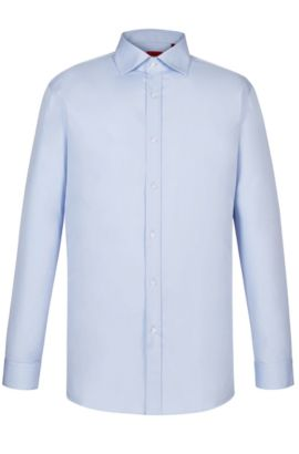 Point Collar Stretch Cotton Dress Shirt, Modern Fit | Enderson X, Light Blue