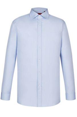 Point Collar Stretch Cotton Dress Shirt, Modern Fit | Enderson X, Light Blue