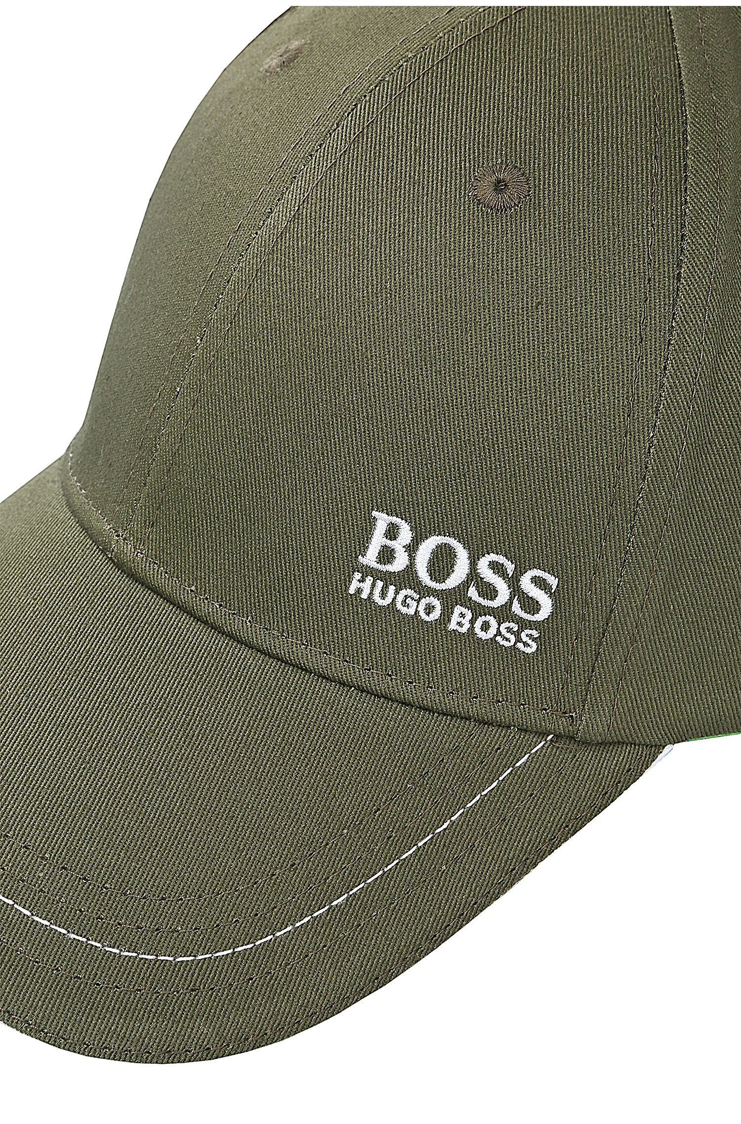 Baseball cap in cotton twill with embroidered logo