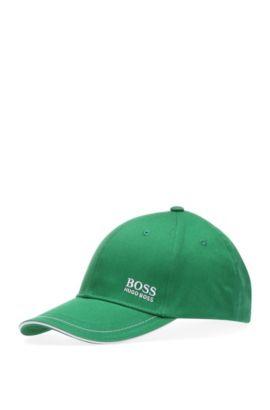Cotton Twill Hat   Cap, Open Green
