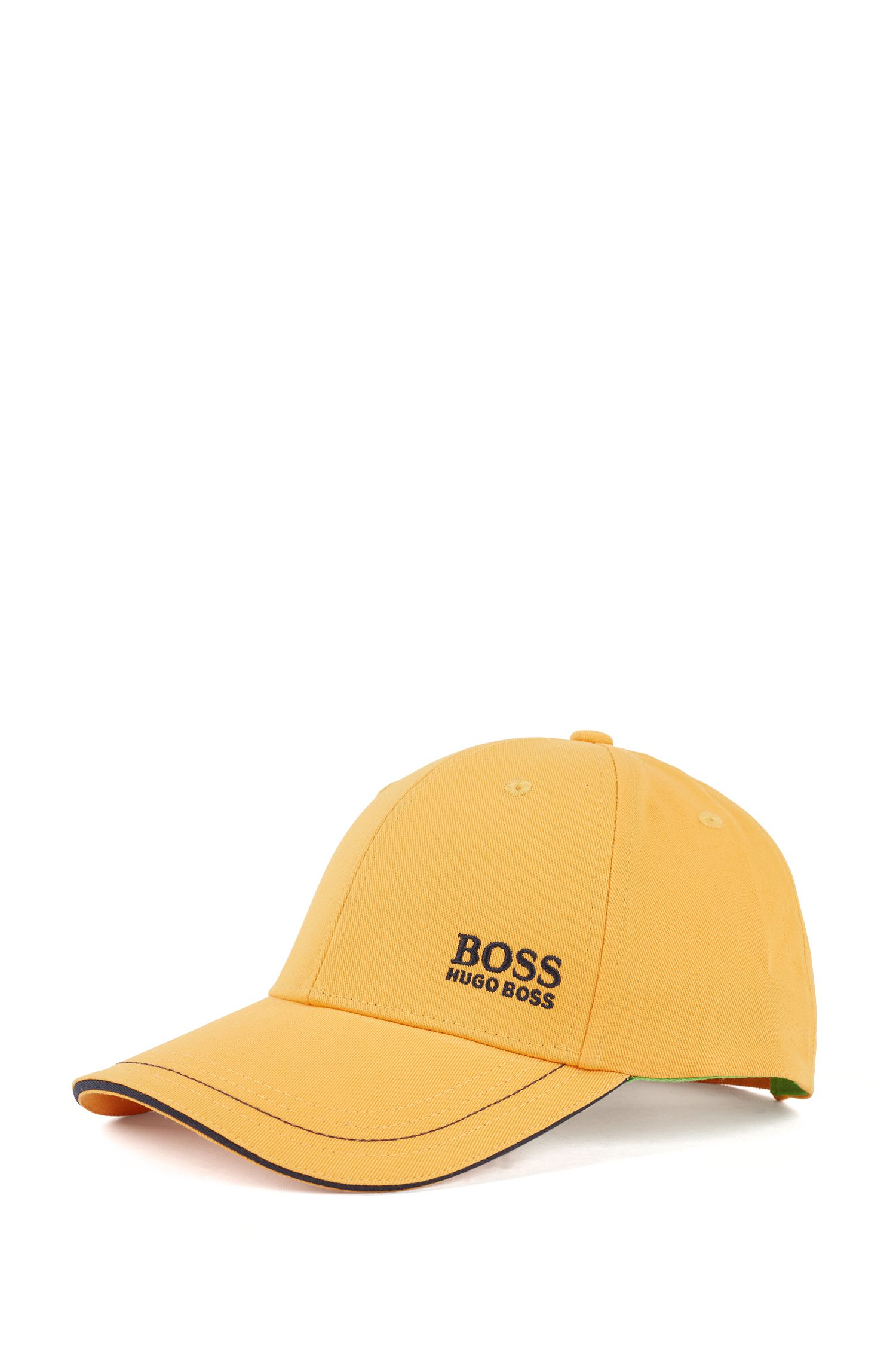 Baseball cap in cotton twill with embroidered logo , Light Yellow