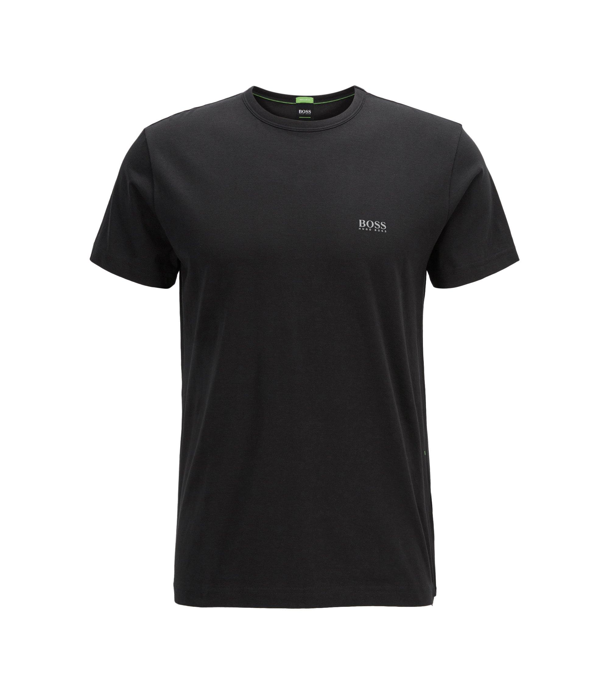'Tee' | Cotton Jersey Logo T-Shirt, Black