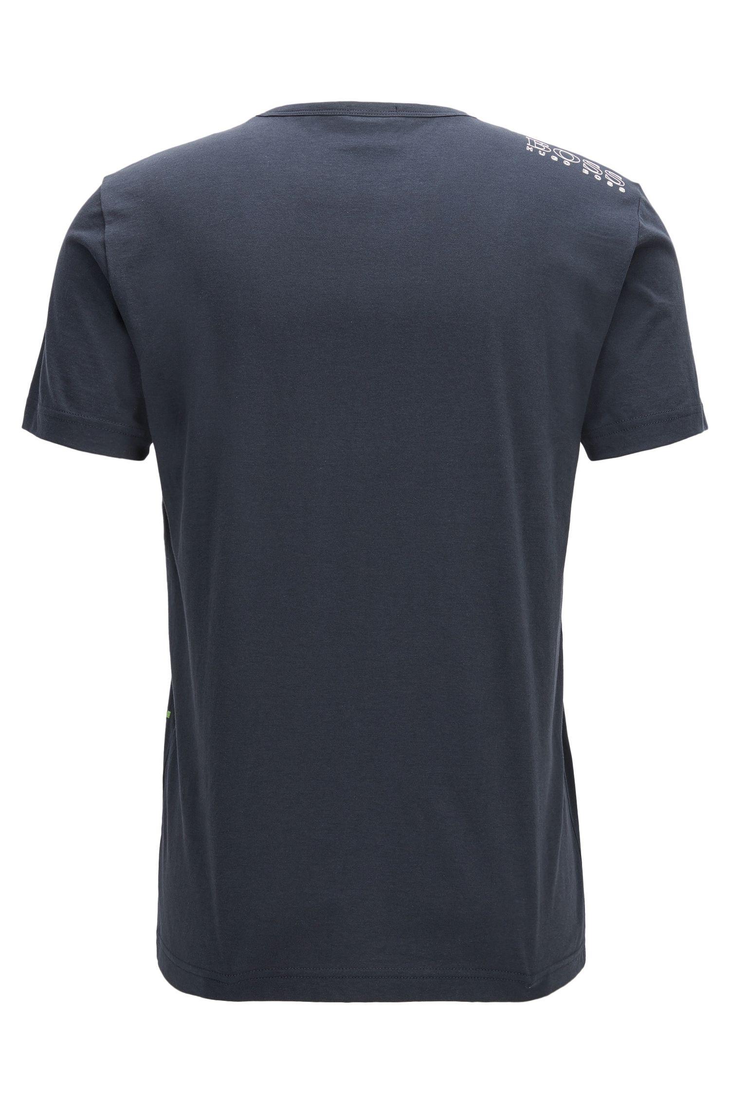 Cotton Jersey Logo T-Shirt | Tee, Dark Blue