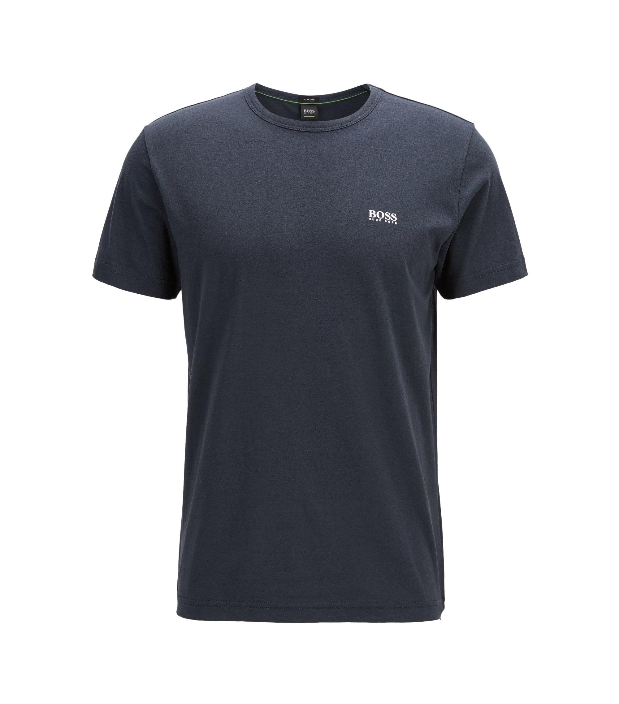 'Tee' | Cotton Jersey Logo T-Shirt, Dark Blue