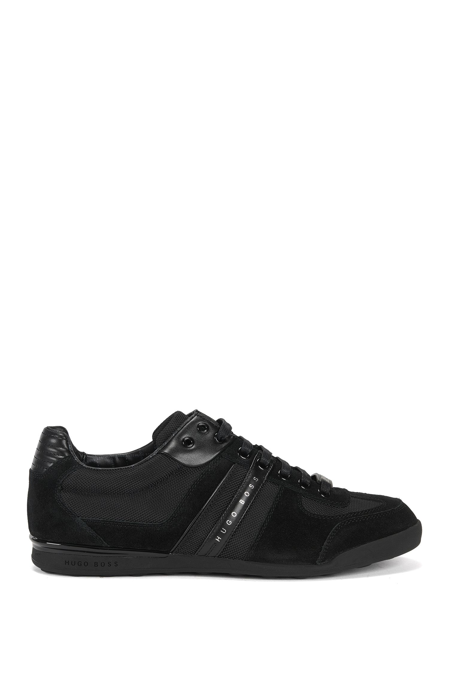 Leather and Mesh Sneaker | Akeen, Black