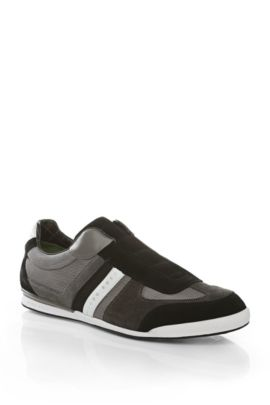 'Akeen'   Suede and Faux Leather Sneakers, Grey