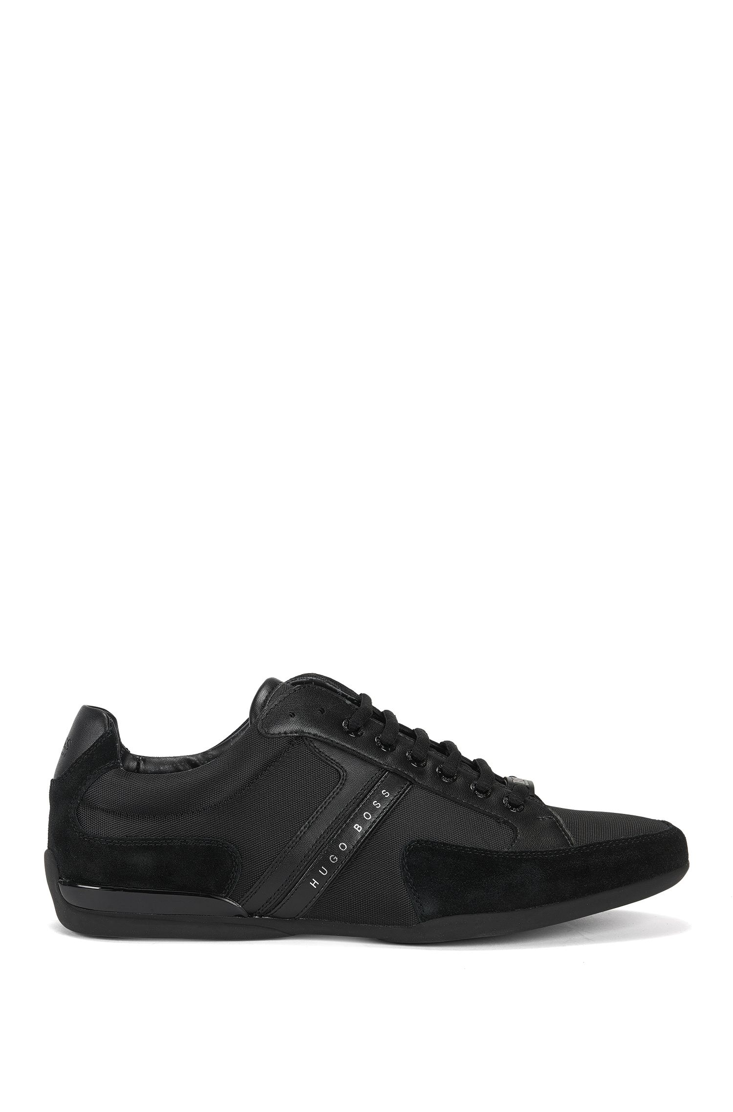 BOSS Hugo Boss Material-mix sneakers rubber sole 10 Black