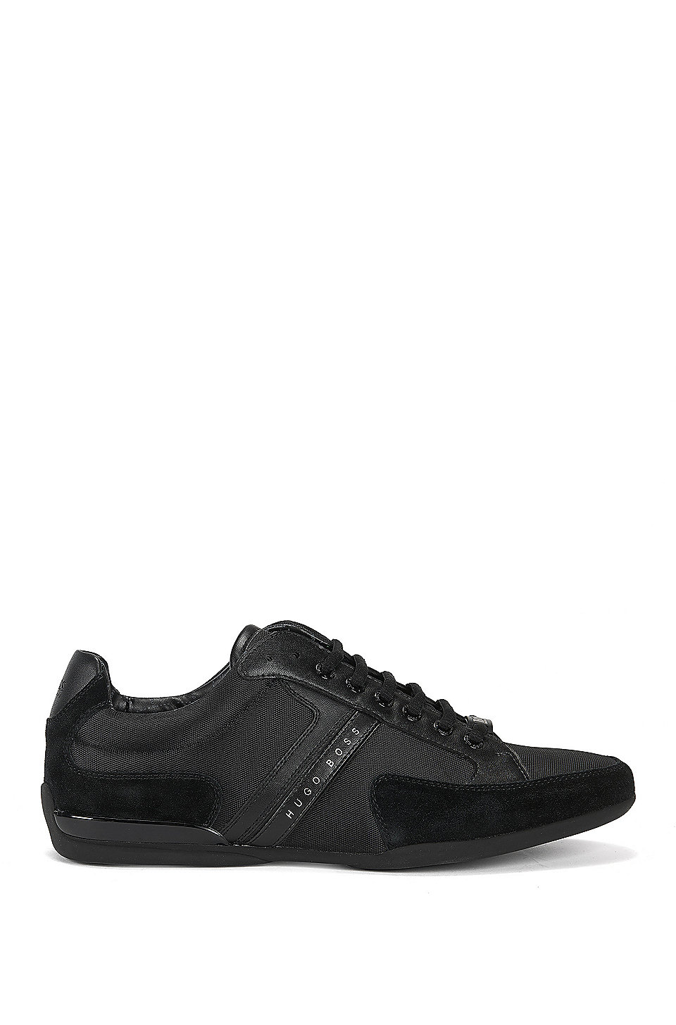 Boss Material Mix Sneakers With Rubber Sole