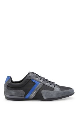 Leather and Suede Sneaker | Spacit, Dark Grey