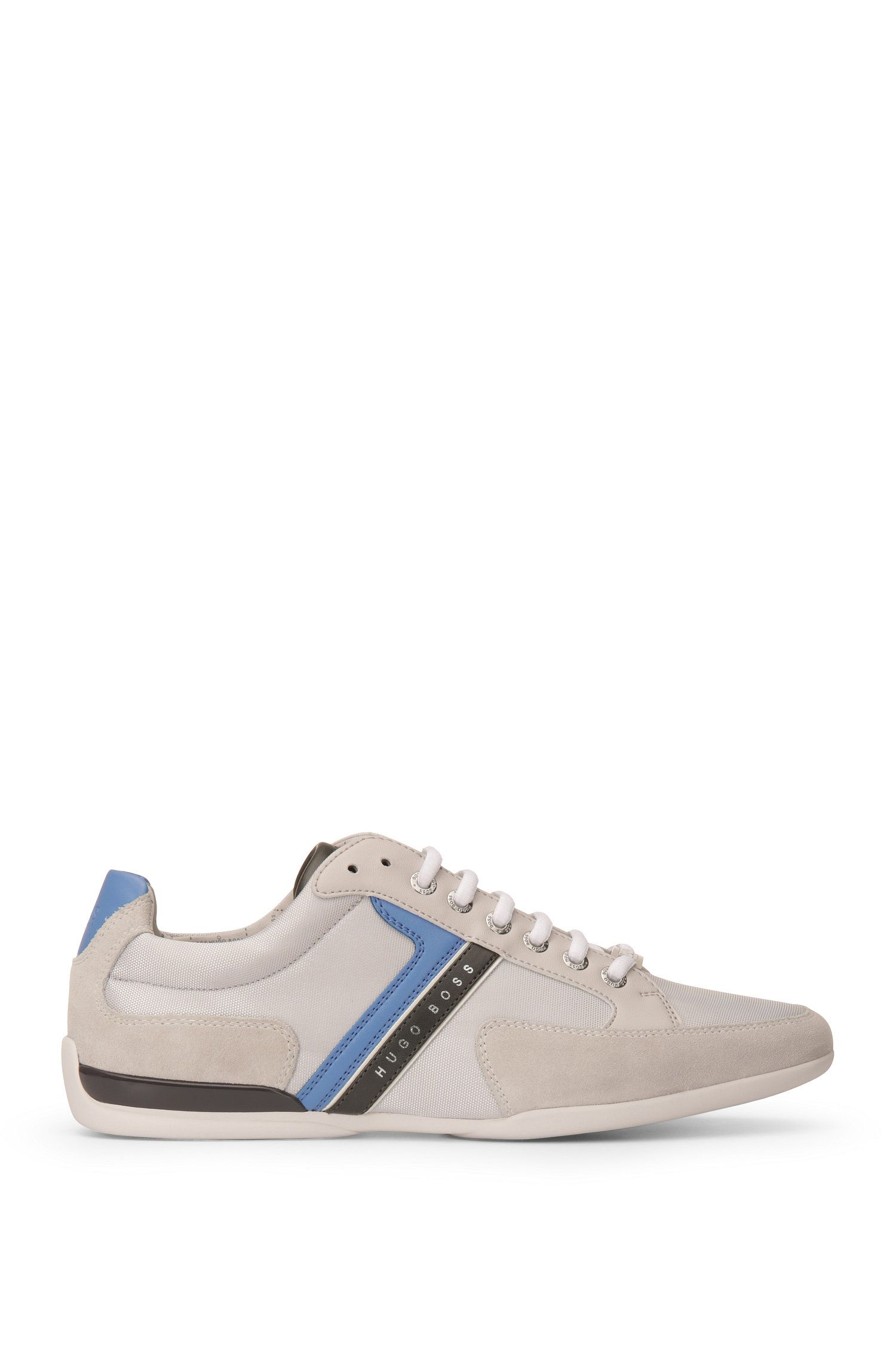 Leather and Suede Sneaker   Spacit
