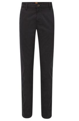 Stretch Cotton Chino Pants, Slim Fit | Schino Slim D, Black