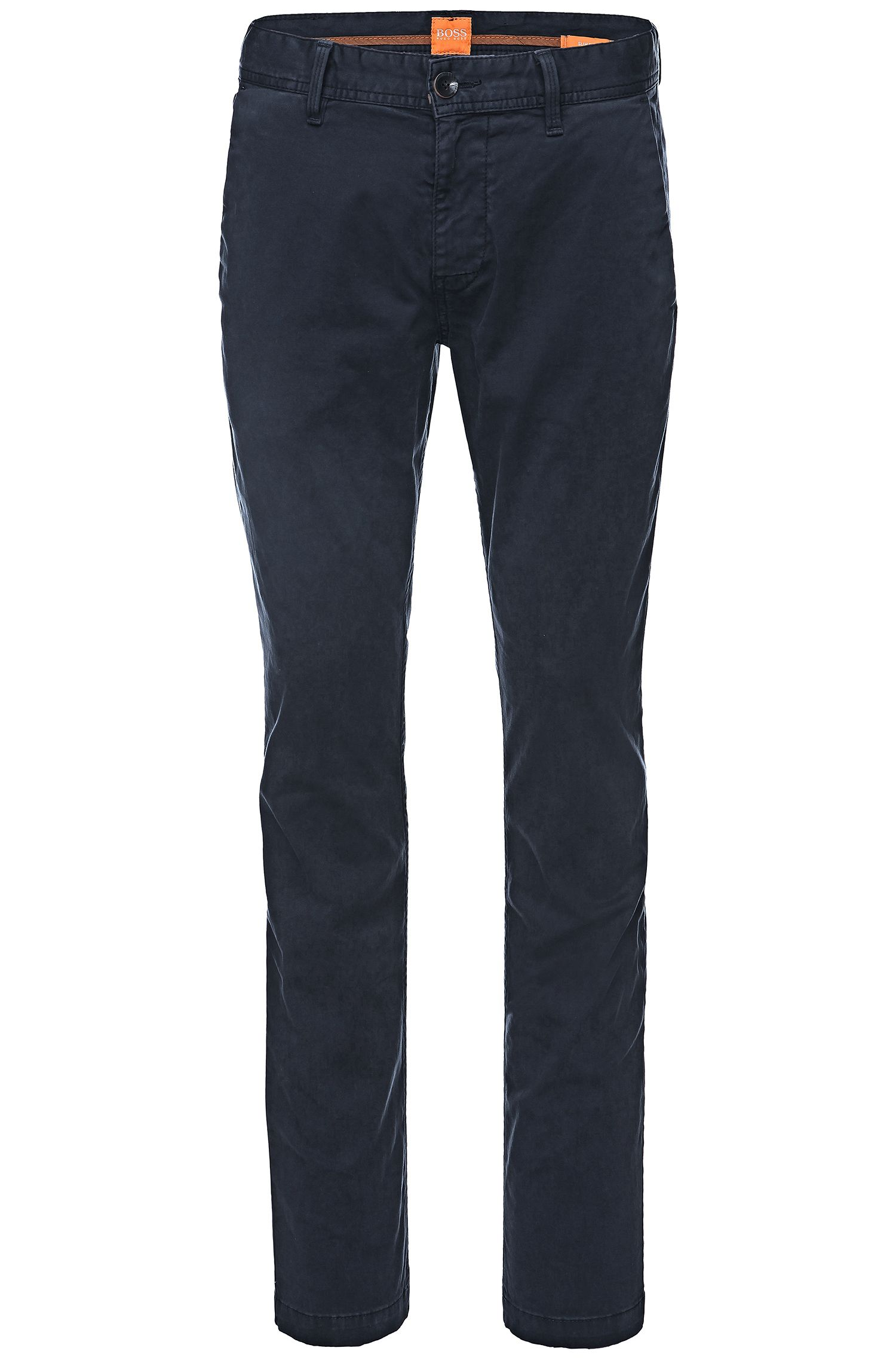 Stretch Cotton Chino Pants, Slim Fit | Schino Slim D, Dark Blue