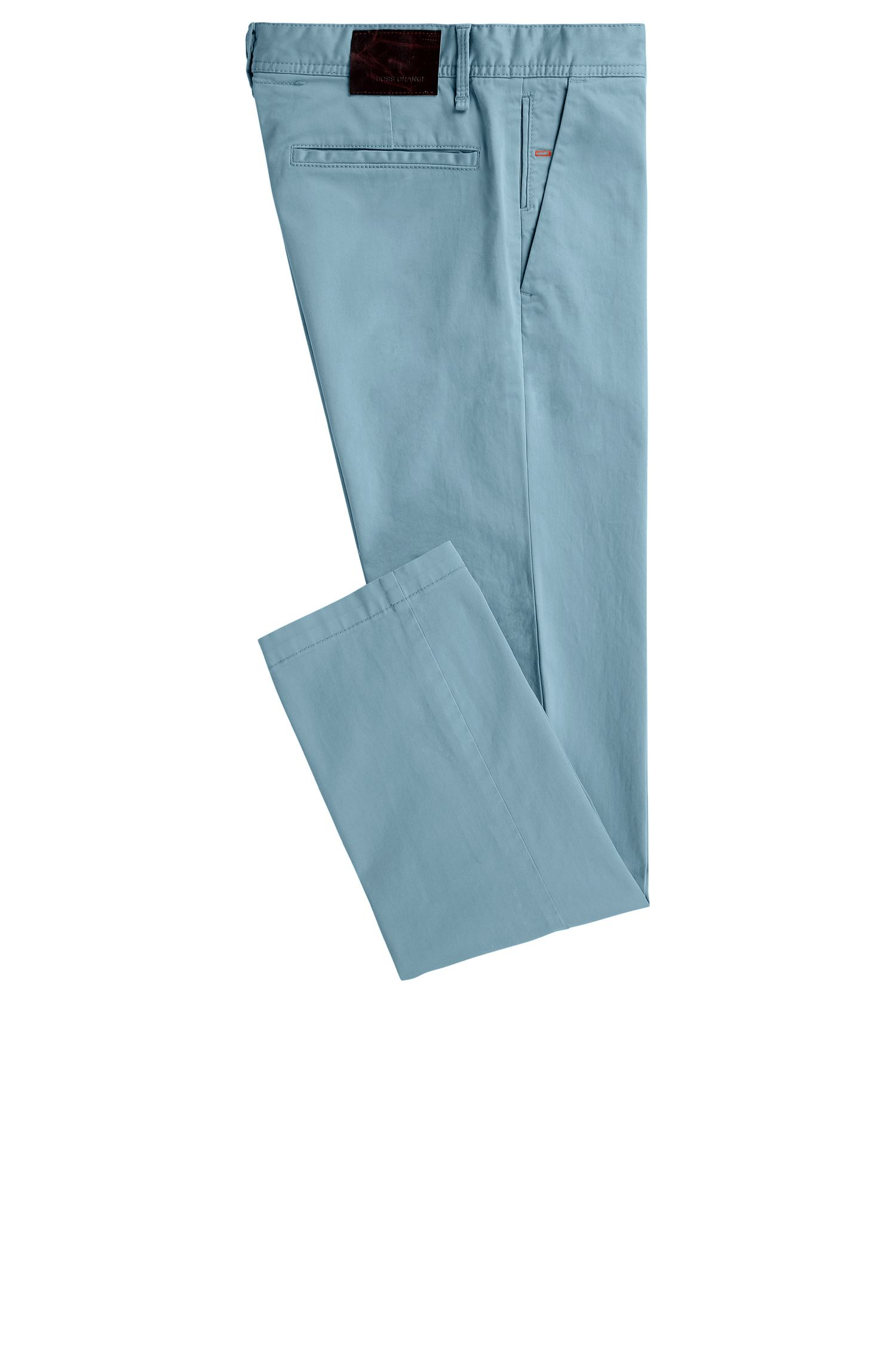 Stretch Cotton Chino Pants, Slim Fit | Schino Slim D, Light Blue
