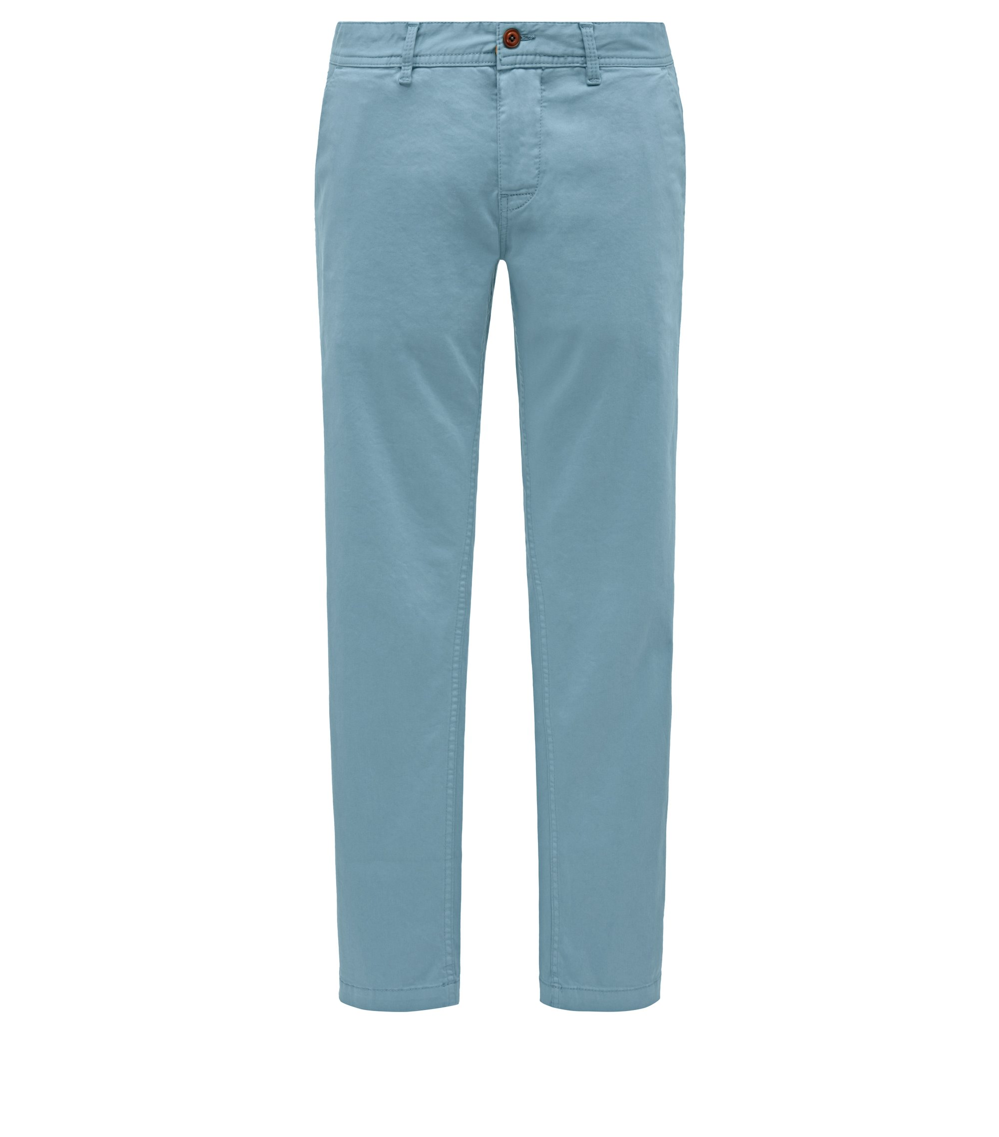 Stretch Cotton Chino Pants, Slim Fit | Schino Slim D, Light Blue
