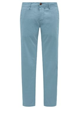 'Schino Slim D' | Slim Fit, Stretch Cotton Chino Pants, Light Blue