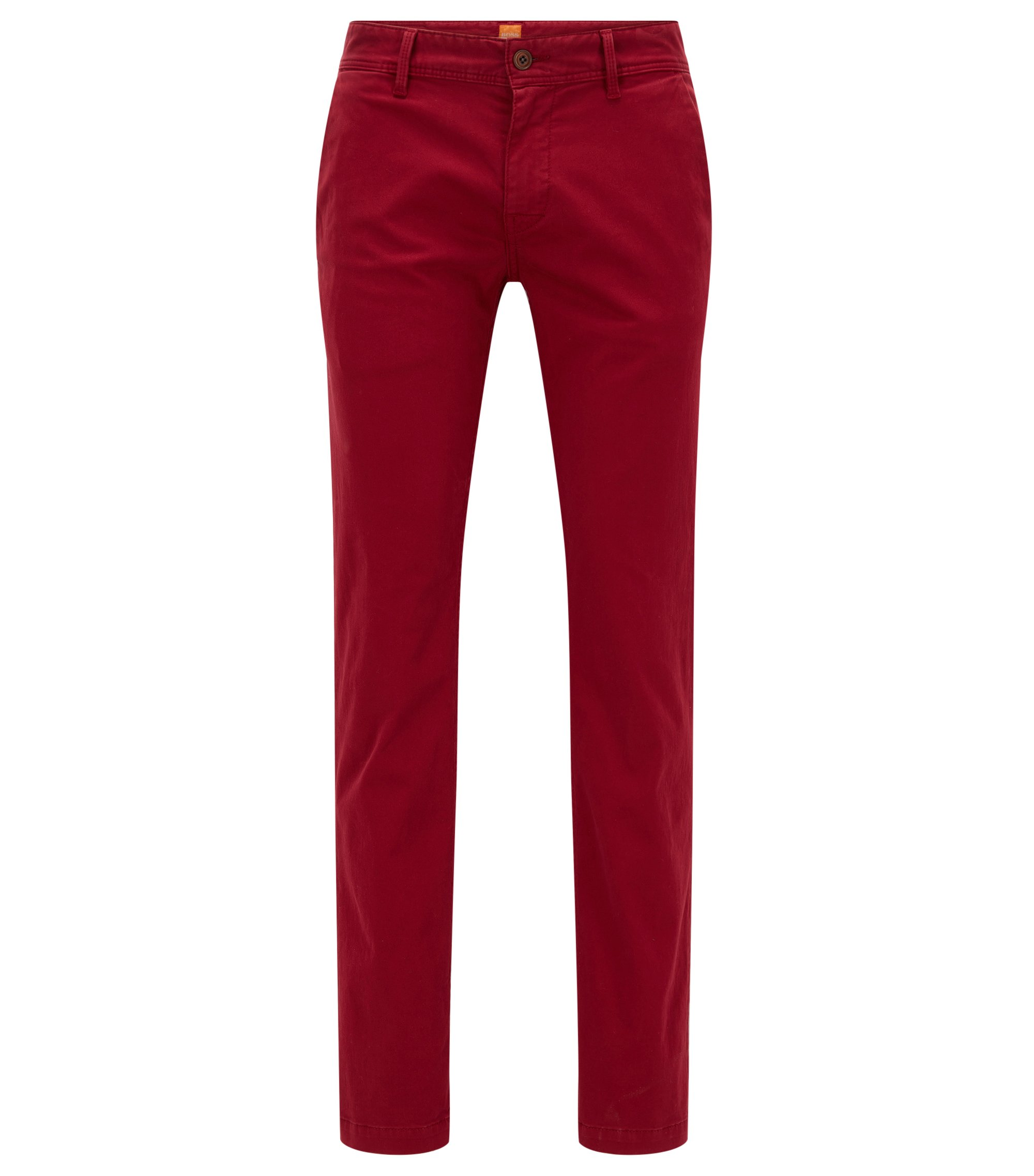 Stretch Cotton Chino Pants, Slim Fit | Schino Slim D, Red