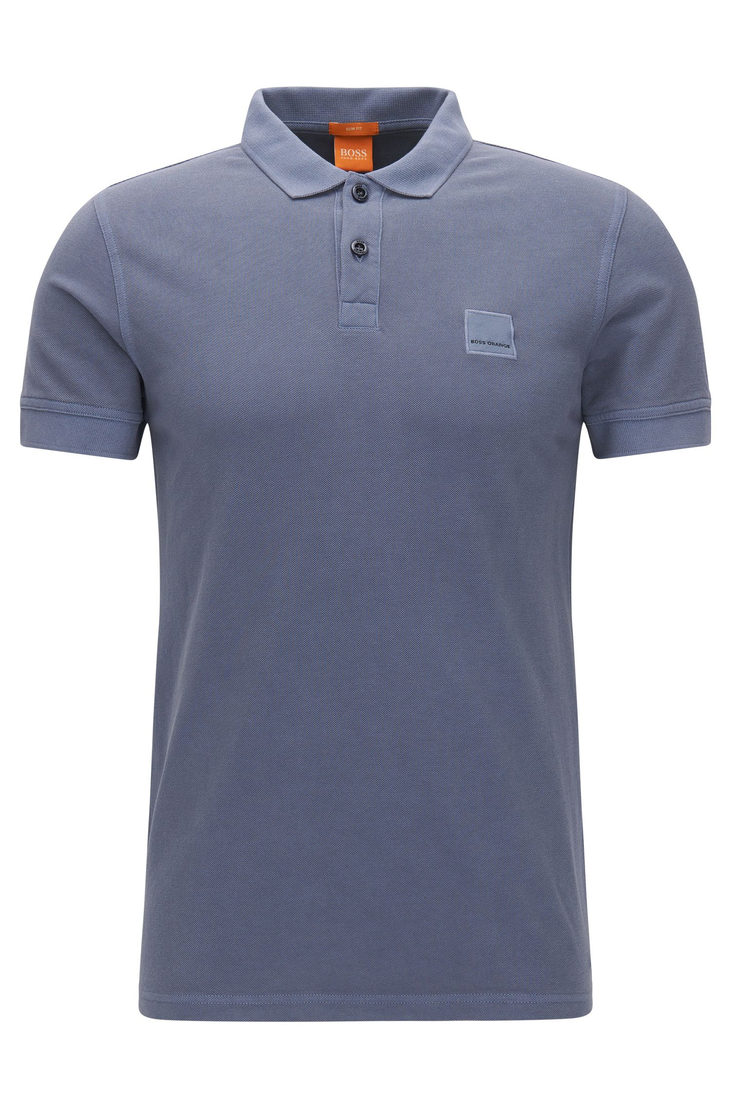 Cotton Polo Shirt, Slim Fit   Pascha