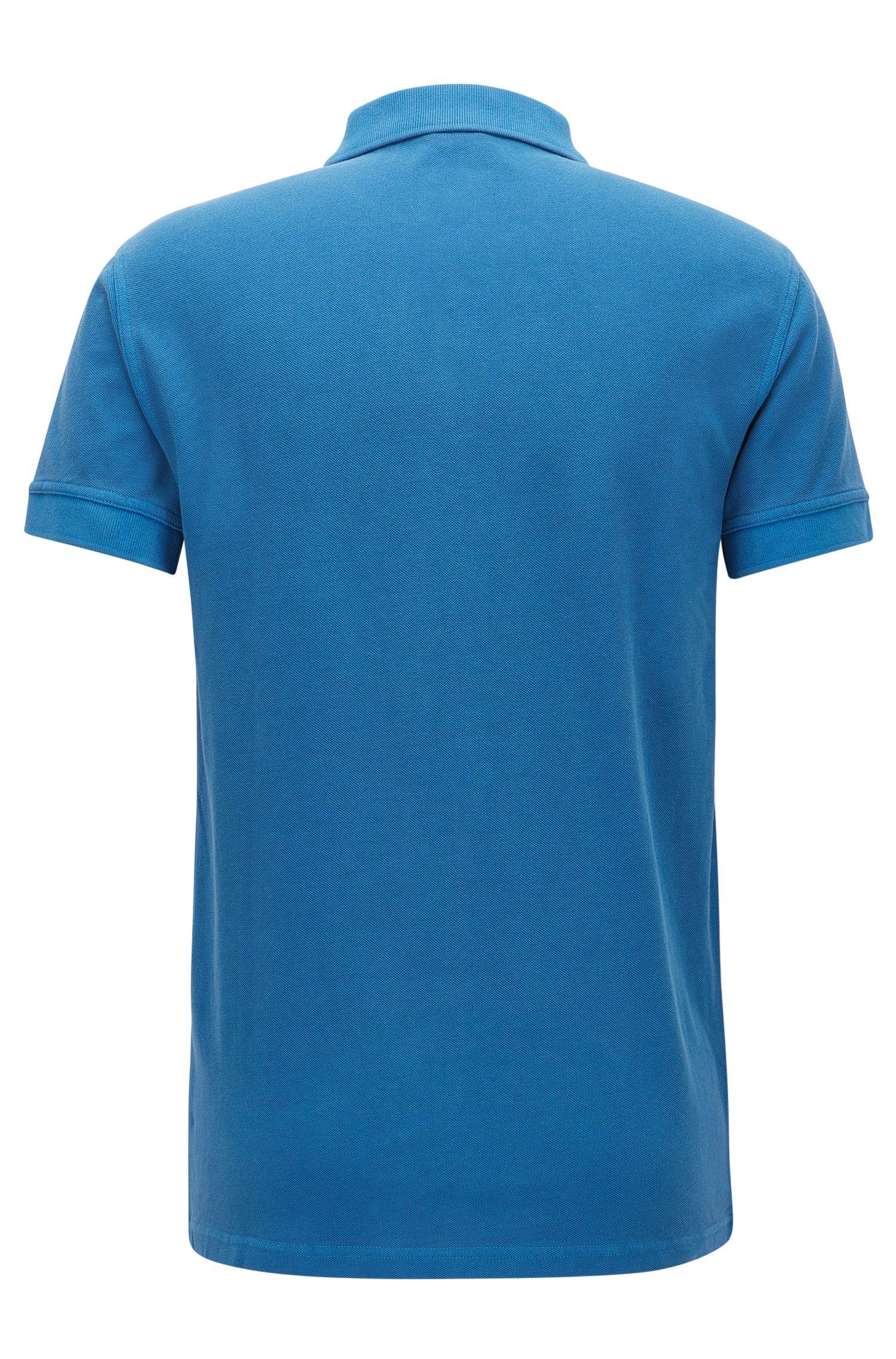 Cotton Polo Shirt, Slim Fit | Pascha, Dark Blue