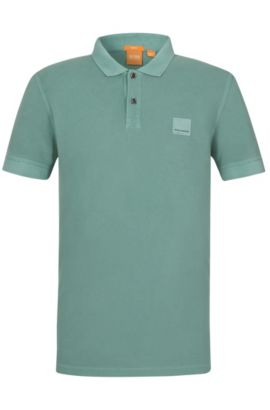 'Pascha' | Slim Fit, Cotton Polo Shirt, Turquoise