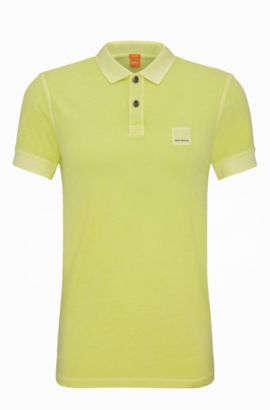 Cotton Polo Shirt, Slim Fit | Pascha, Light Yellow