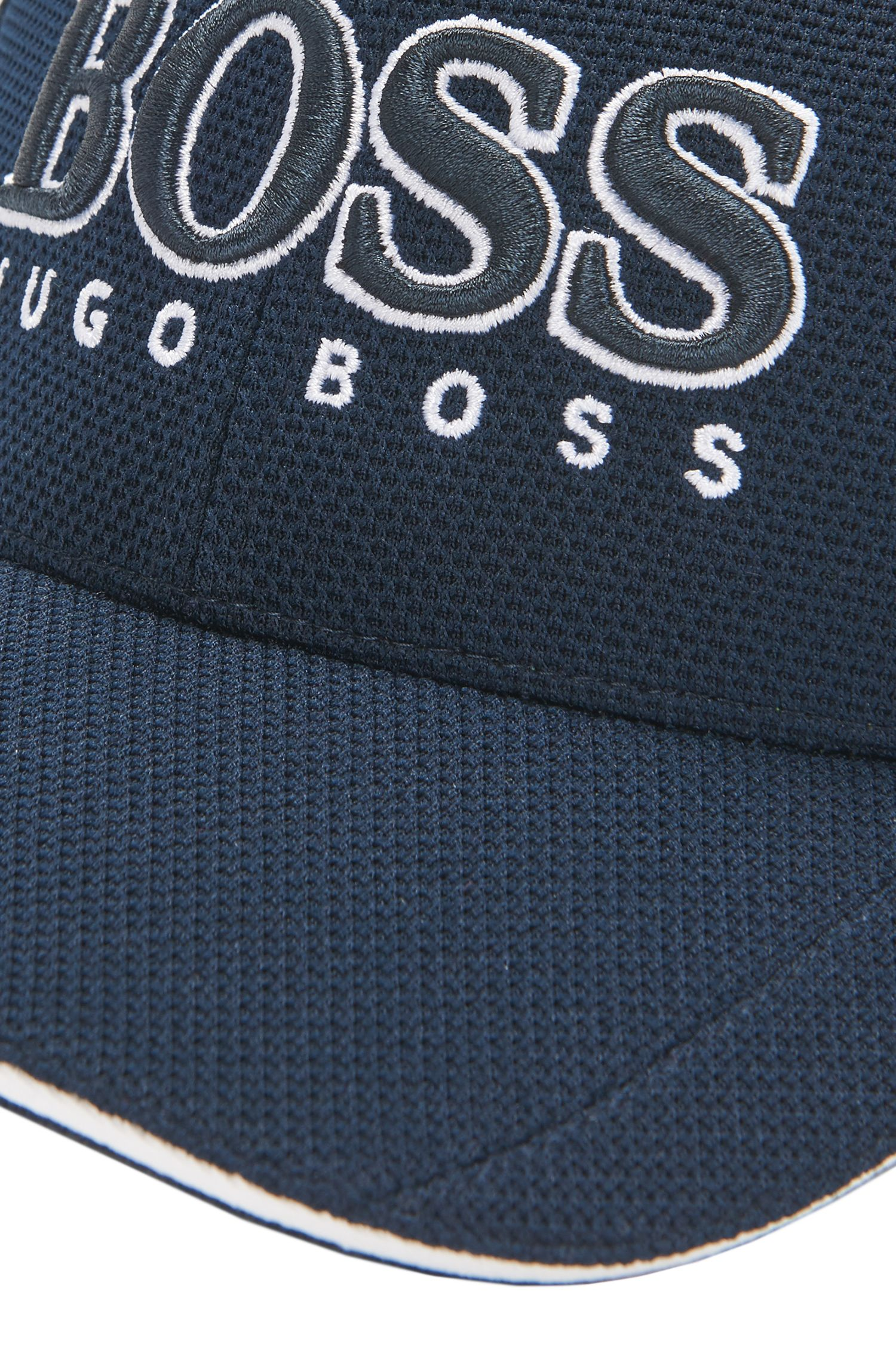 Baseball cap in technical piqué , Dark Blue