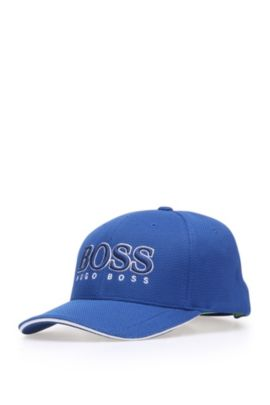 'Cap US' | 3-D Logo Performance Hat, Open Blue