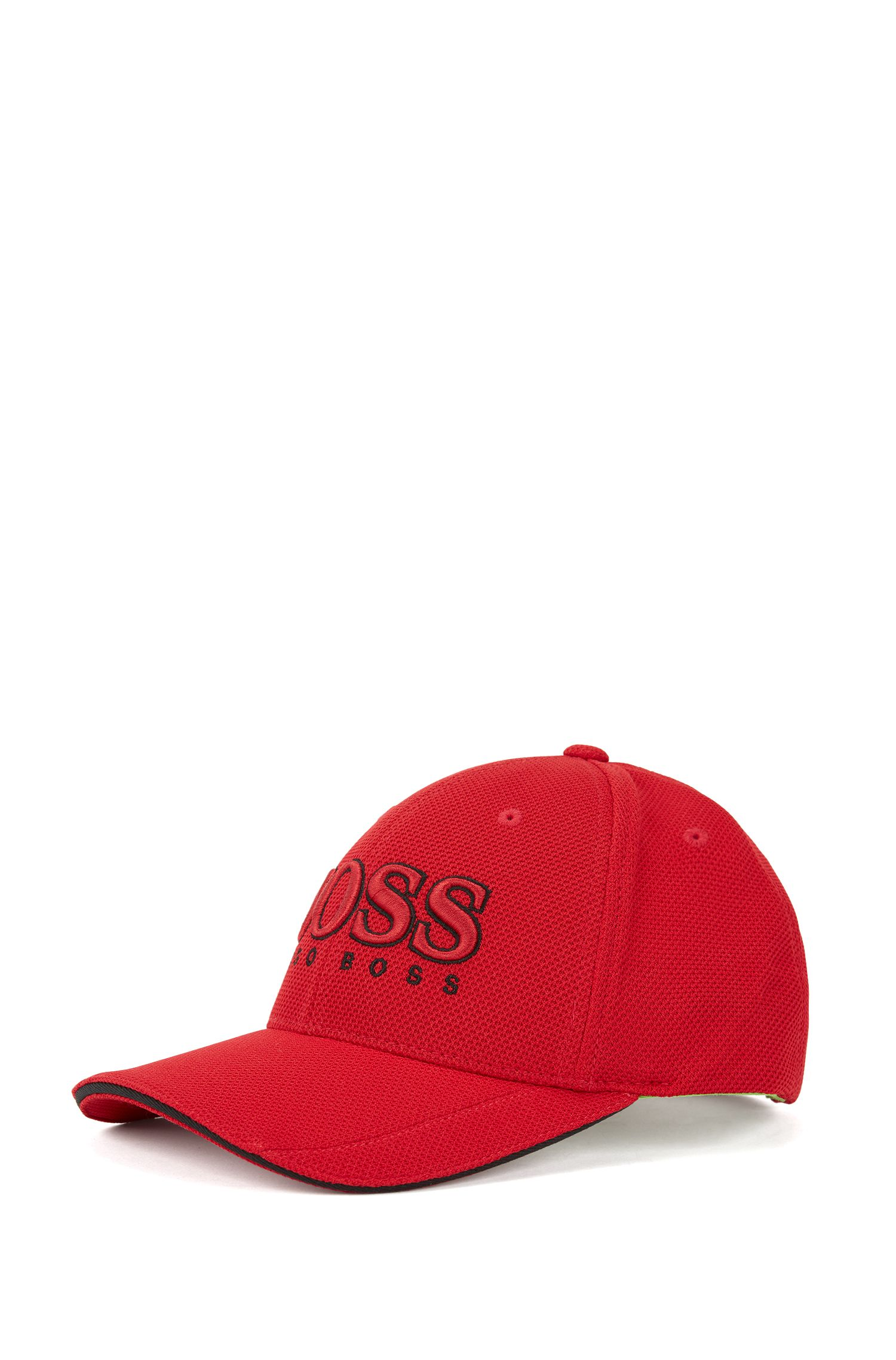 Baseball cap in technical piqué , Dark Red