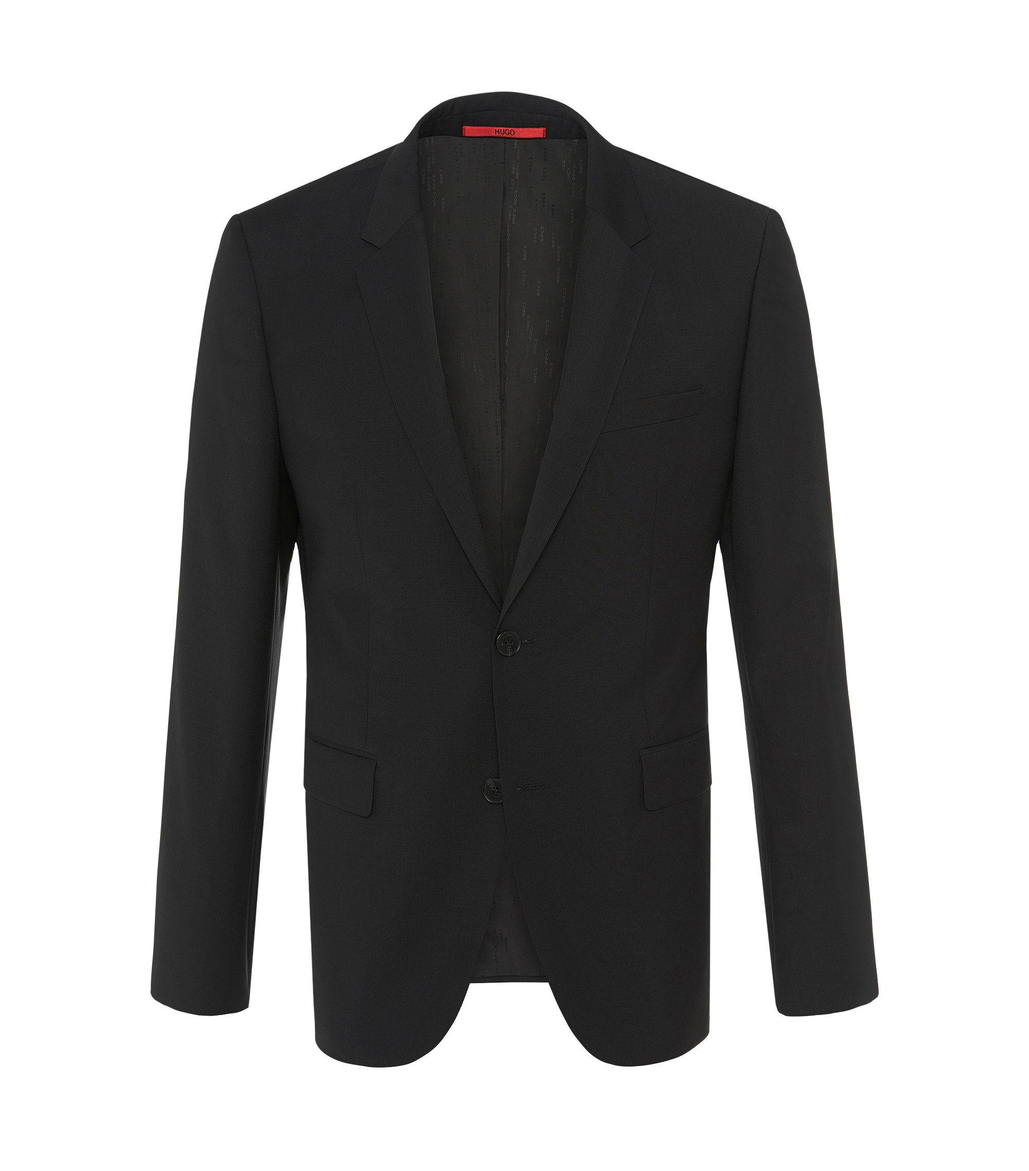 Virgin Wool Sport Coat, Slim Fit | Aerin S , Black