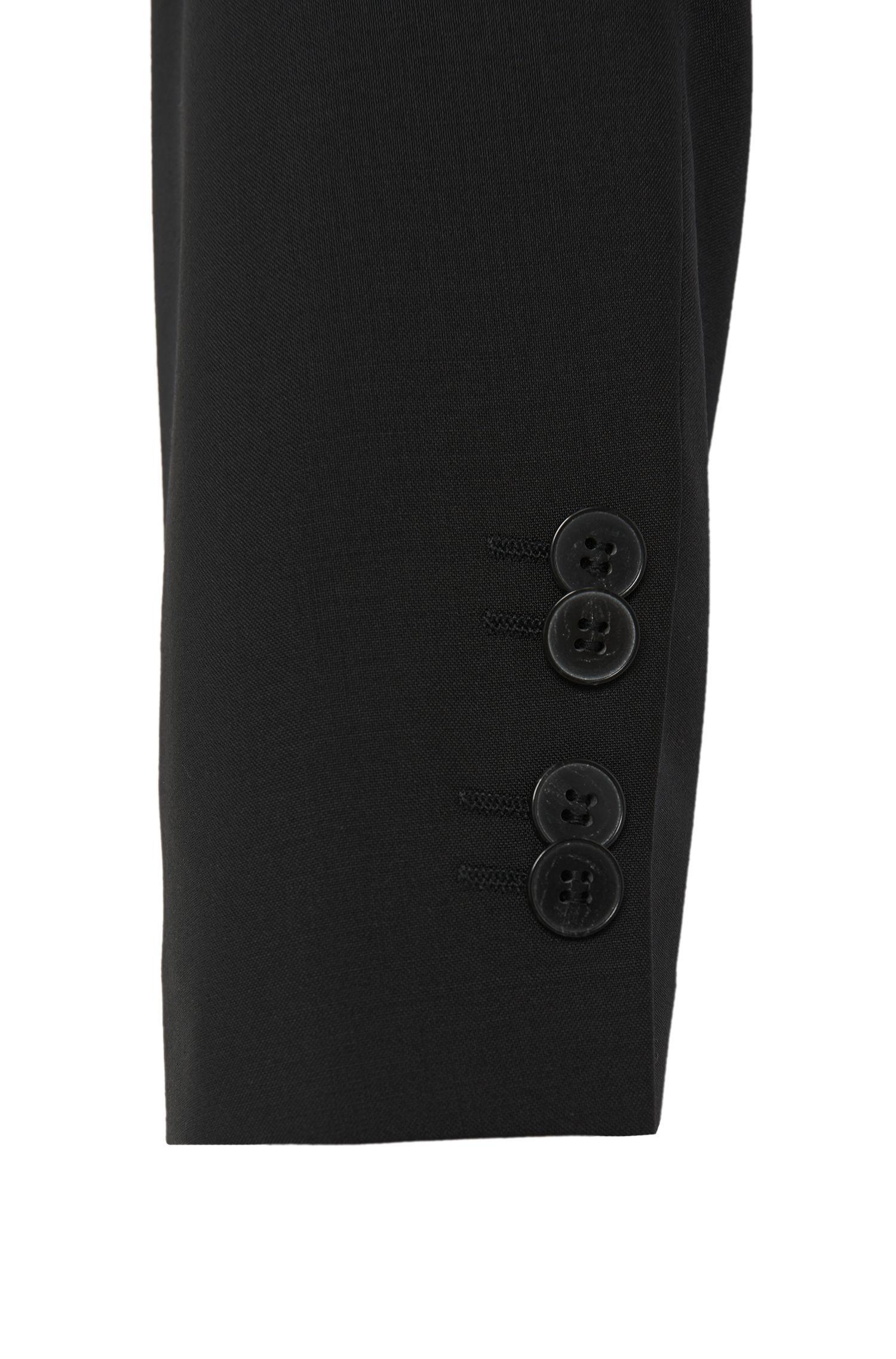 Virgin Wool Sport Coat, Slim Fit | Aerin S , Black