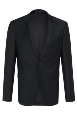 Virgin Wool Sport Coat, Slim Fit | Aerin S , Dark Blue