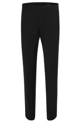 'HamenS' | Slim Fit, Virgin Wool Dress Pants  , Black