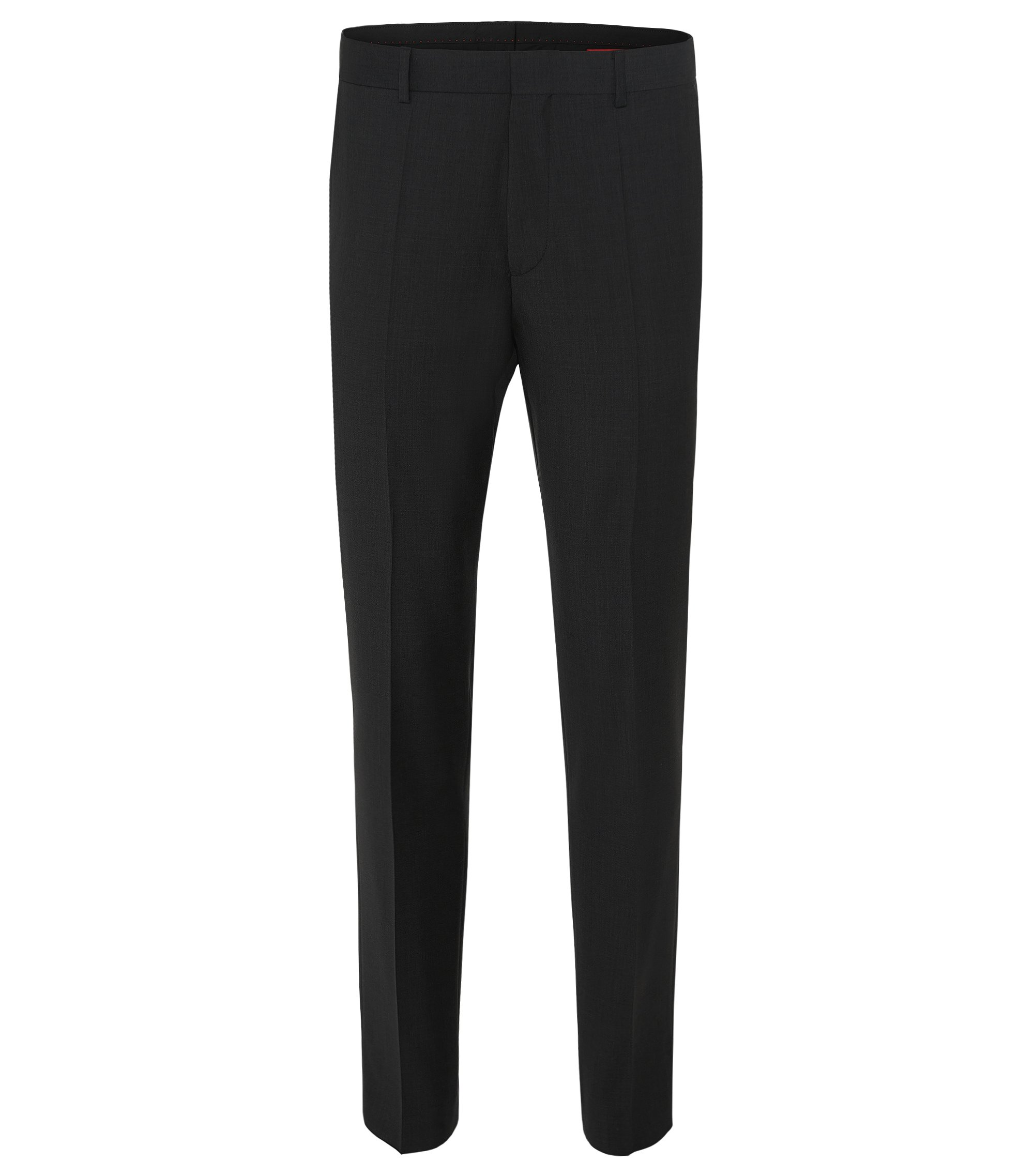 Virgin Wool Dress Pant, Slim Fit | HamenS, Dark Grey