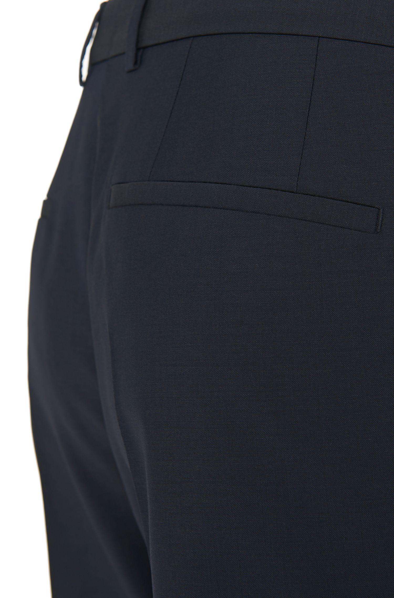 Virgin Wool Dress Pant, Slim Fit | HamenS, Dark Blue