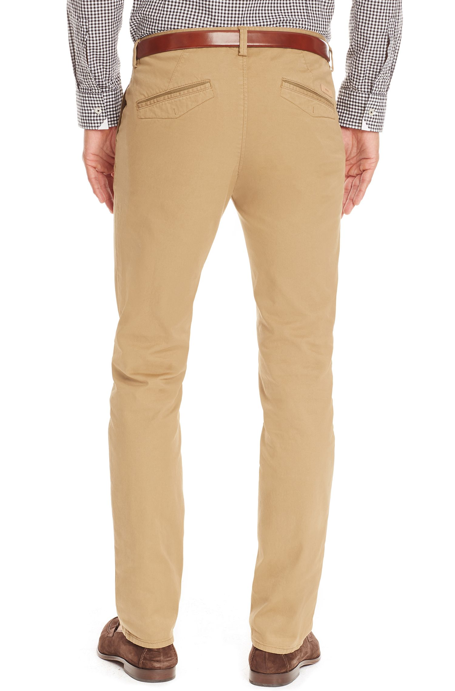 Stretch Cotton Colored Chino Pant, Slim Fit | Rice