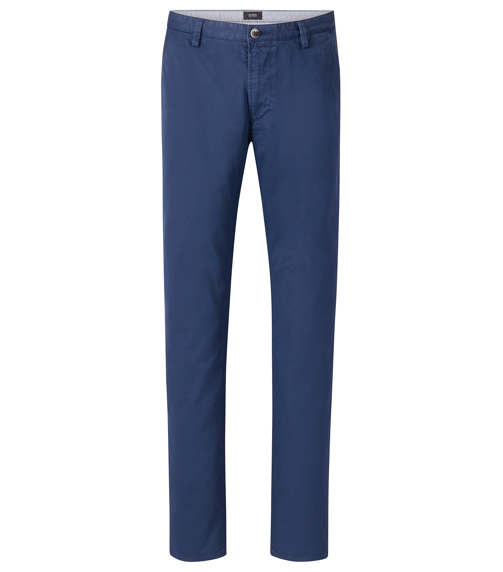 Stretch Cotton Colored Chino Pant, Slim Fit | Rice, Open Blue